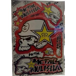 Dekalark Metal Mulisha Röd