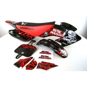 Dekalkit CRF50 Metal Mulisha Svart